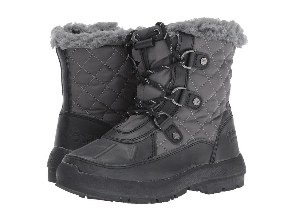 Bearpaw Kids - Bethany (Little Kid/Big Kid) (Black/Grey) Girls Shoes