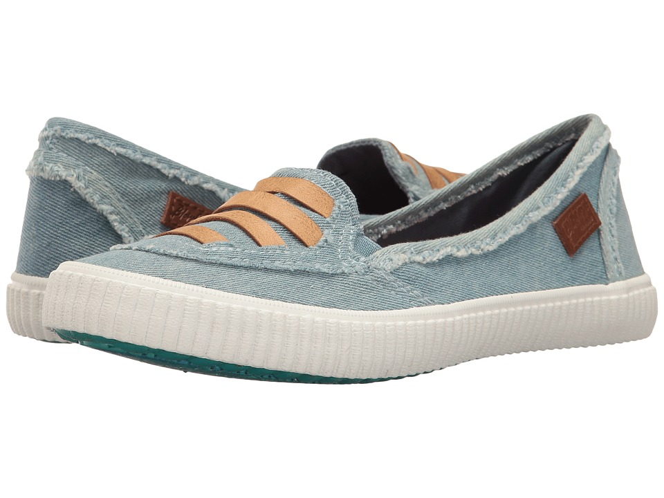 Blowfish - Spain (Blue Peru/Denim Washed Stretch/Whiskey Jeremy PU) Women's Slip on Shoes