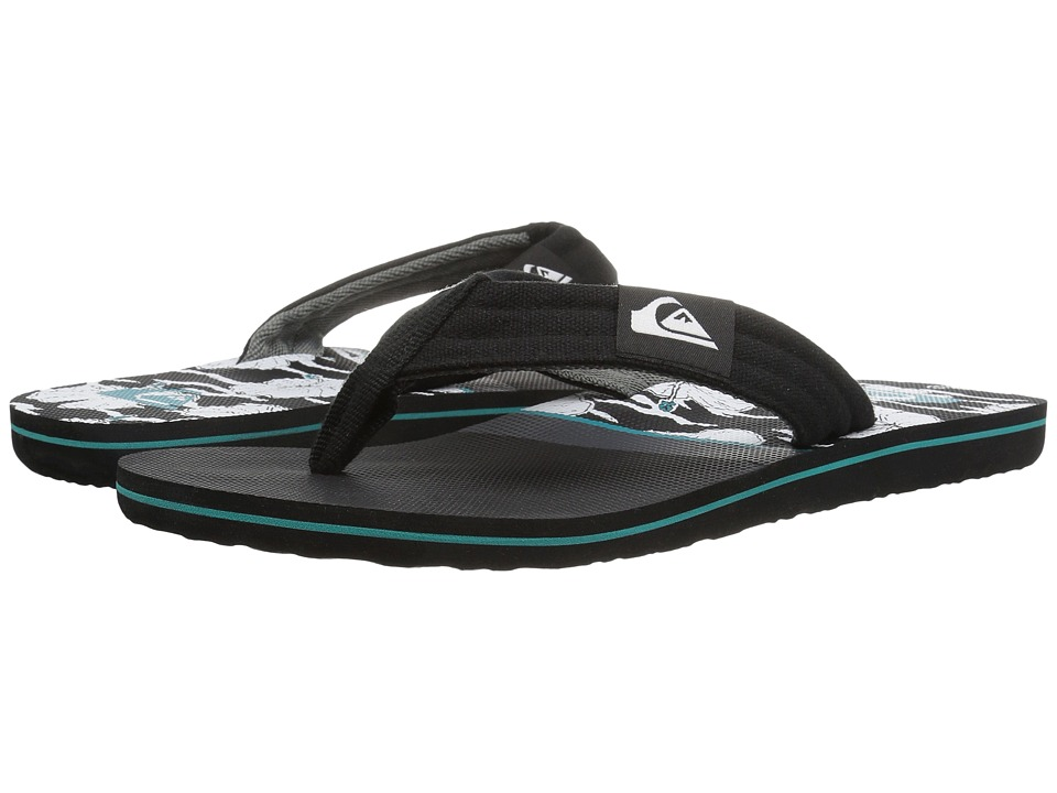 Quiksilver - Molokai Layback (Black/Grey/Green) Men's Sandals