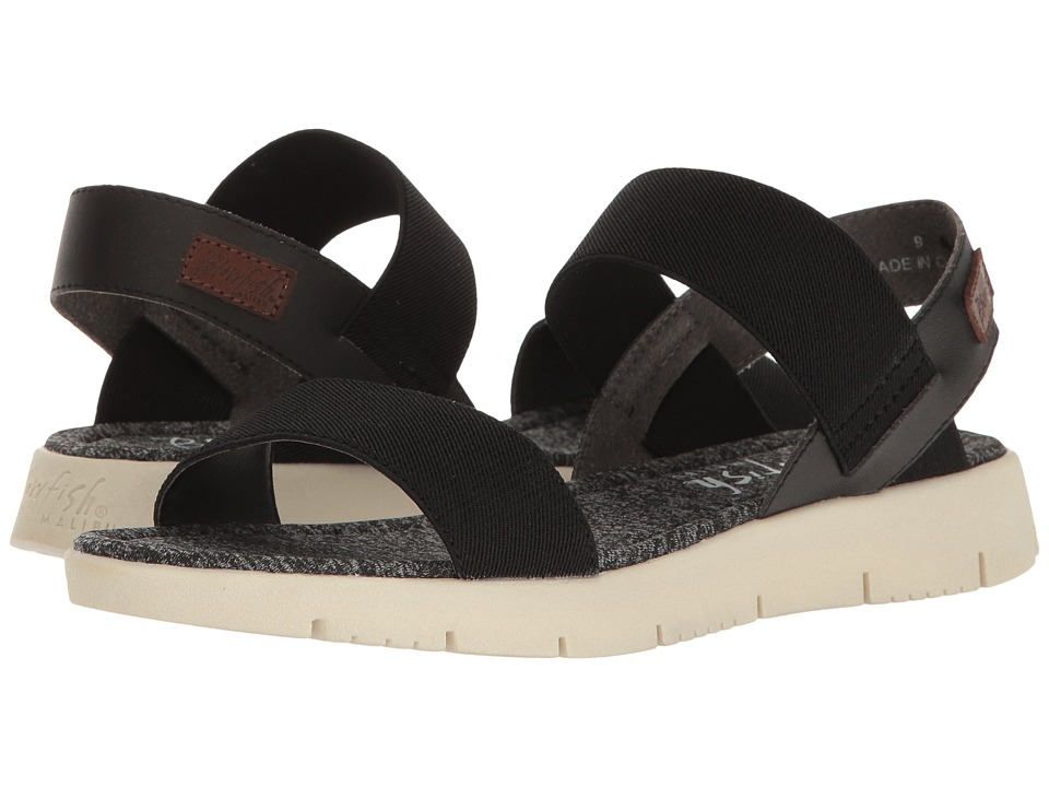 Blowfish - Brit (Black Soft Dyeable PU/Super Gore) Women's Sandals
