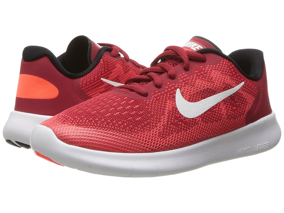 Nike Kids - Free RN 2017 (Little Kid) (Gym Red/Off-White/Track Red) Boys Shoes
