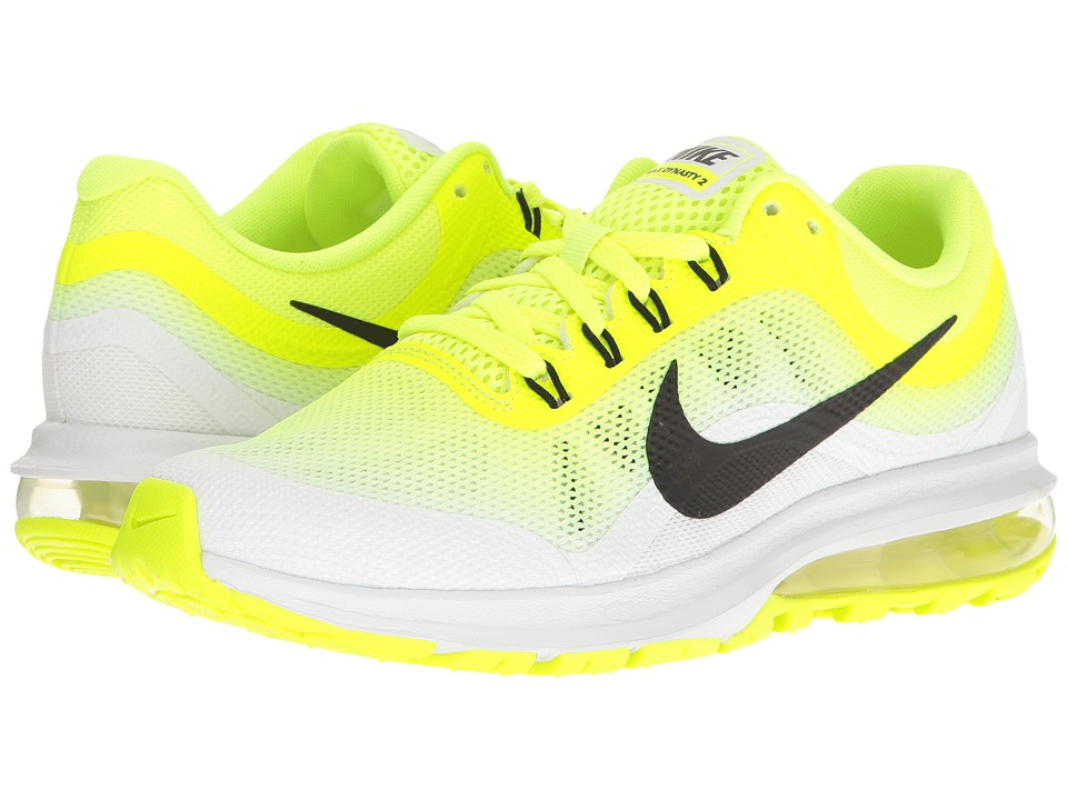 Nike Kids - Air Max Dynasty 2 (Big Kid) (Volt/Black/White) Boys Shoes