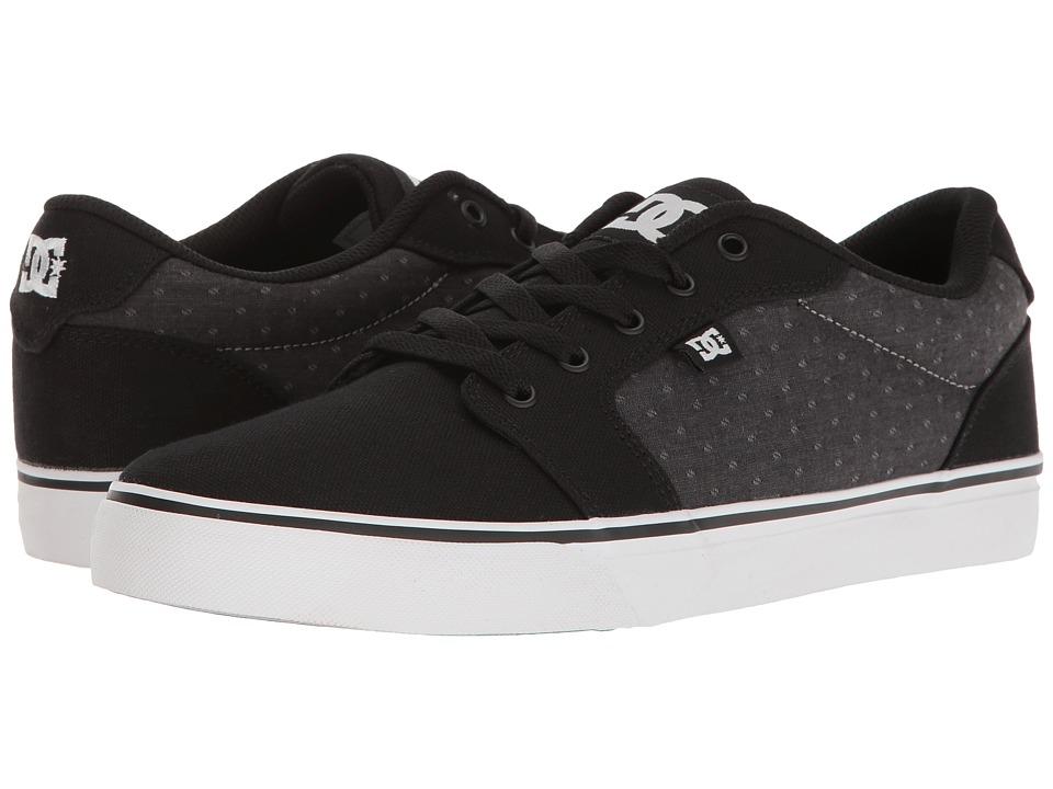 DC - Anvil TX SE (Black/Polka Dot) Men's Shoes