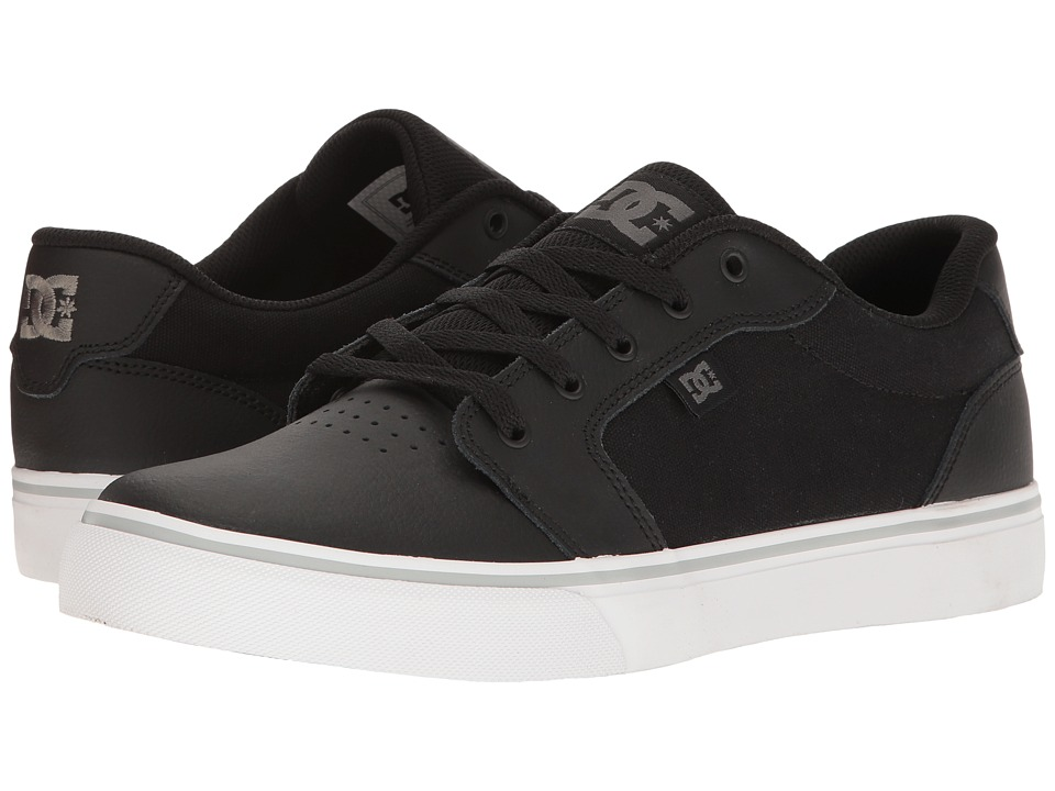 DC - Anvil SE (Black/White/Silver) Men's Skate Shoes