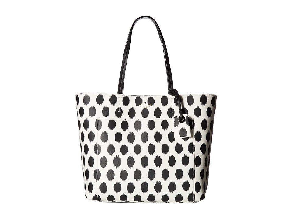 Kate Spade New York - Harding Street Ikat Dot Riley (Black Multi) Handbags