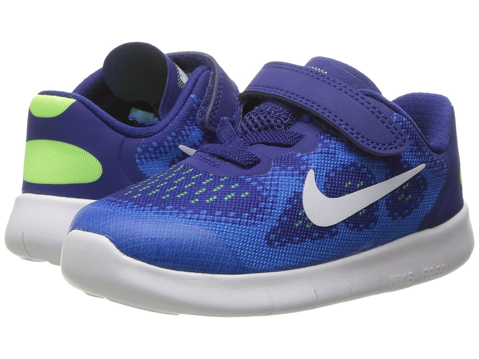 Nike Kids - Free RN 2017 (Infant/Toddler) (Deep Royal Blue/White/Soar/Ghost Green) Boys Shoes