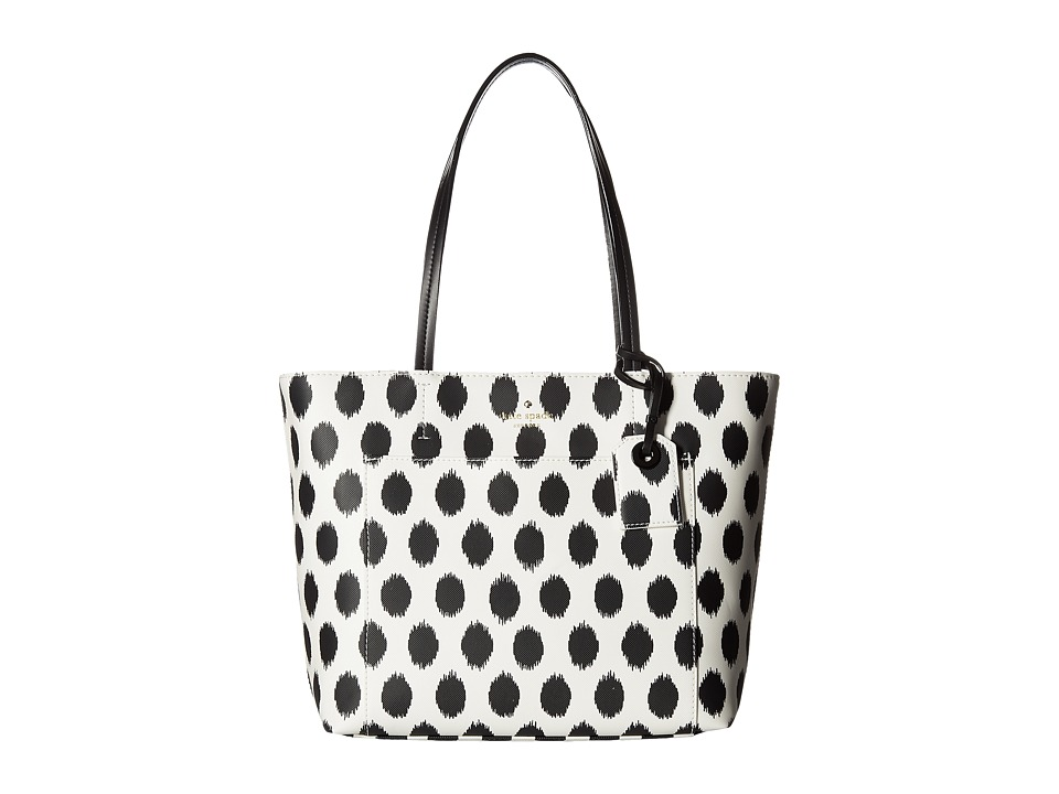 Kate Spade New York - Harding Street Ikat Dot Small Riley (Black Multi) Handbags