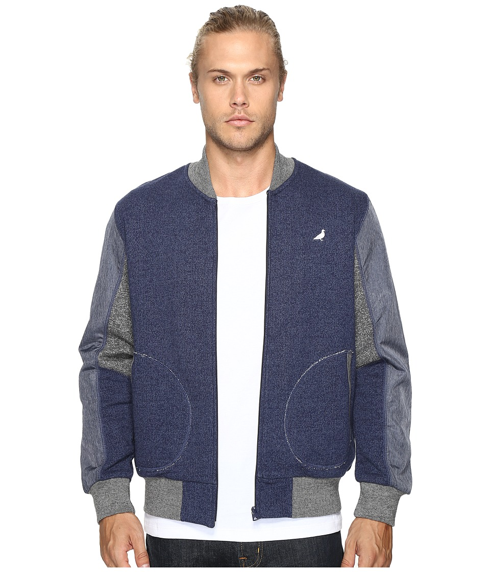 Staple - Pieced Loopback Bomber Jacket (Navy) Men's Jacket