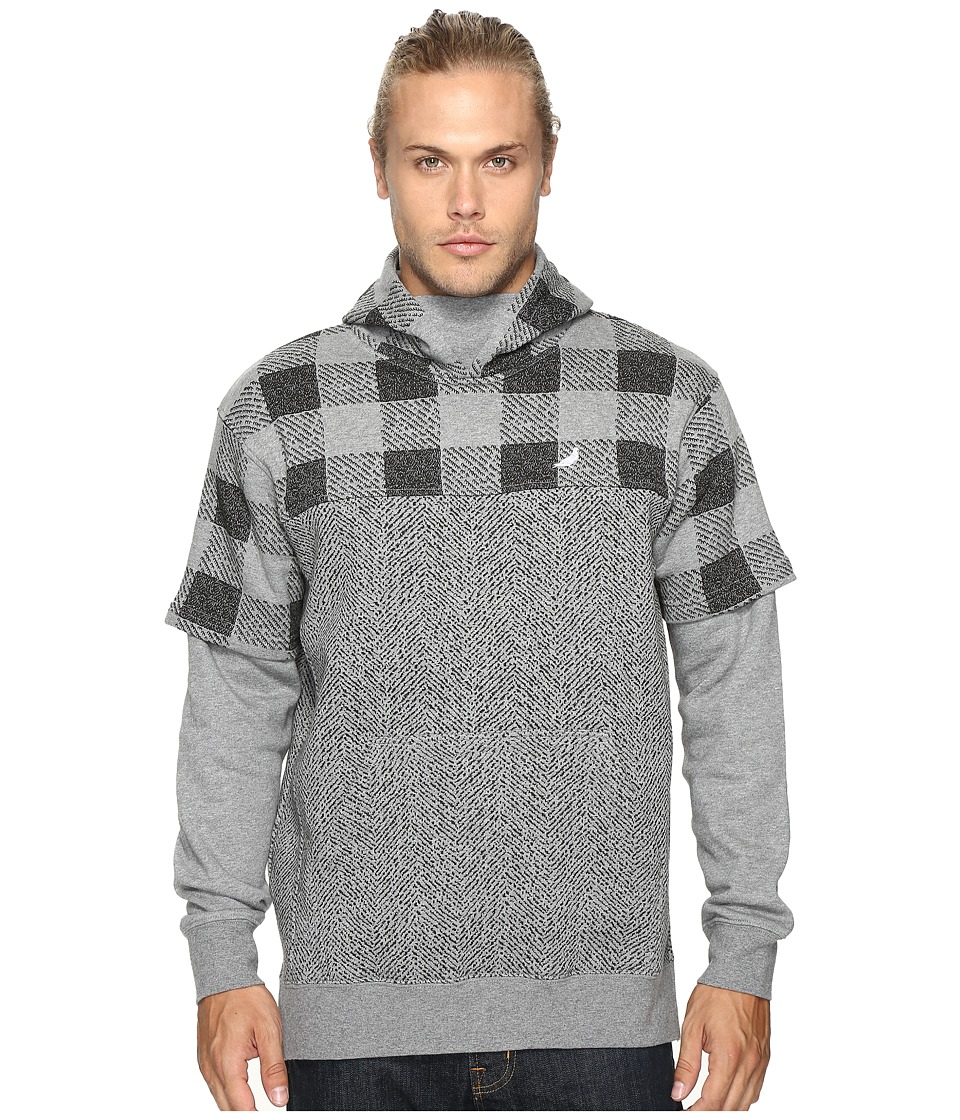Staple - Check Hoodie (Heather Grey) Men's Sweatshirt