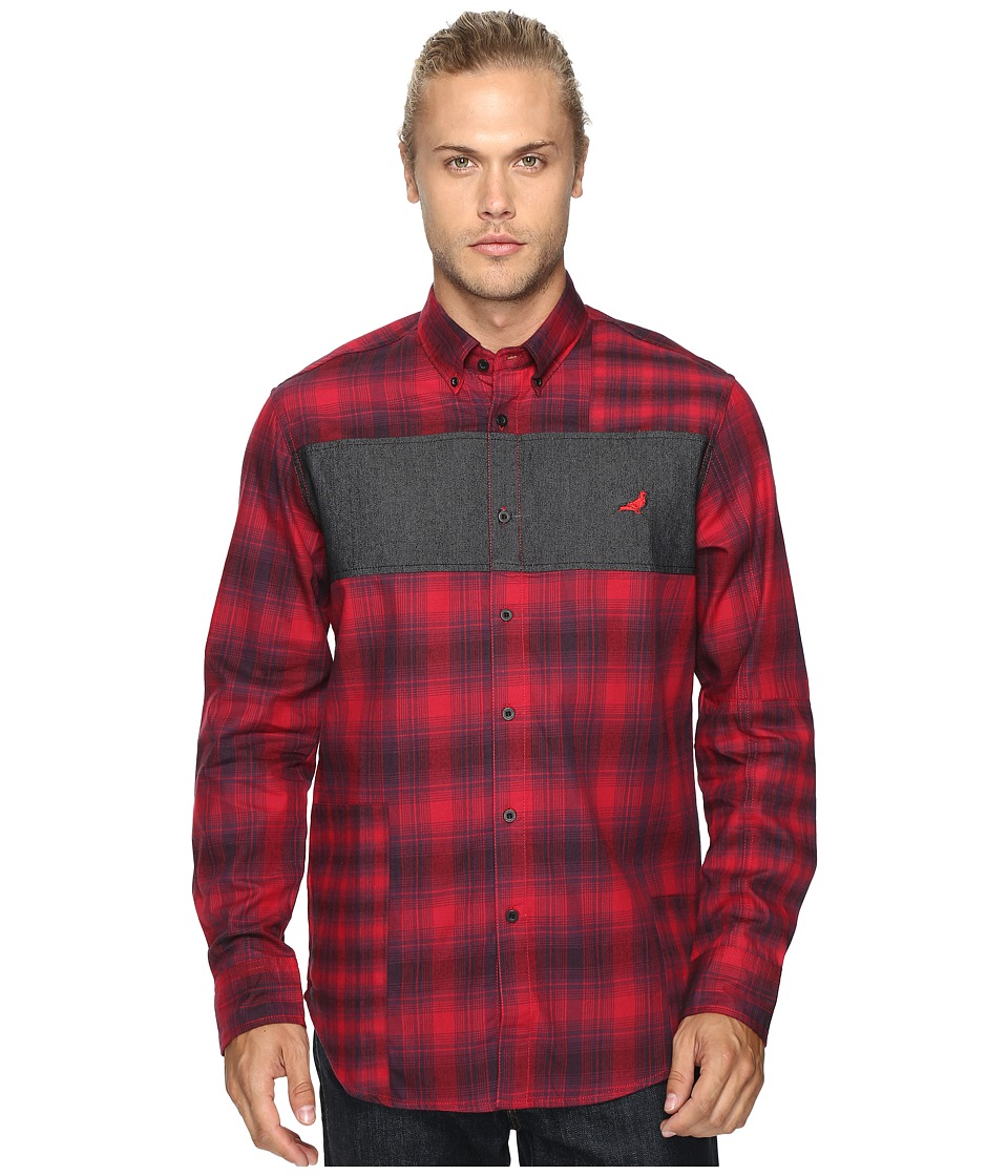 Staple - Hunter Flannel Shirt (Red) Men's Clothing