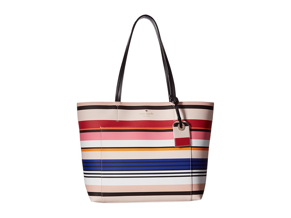 Kate Spade New York - Harding Street Stripe Small Riley (Multi Stripe) Handbags