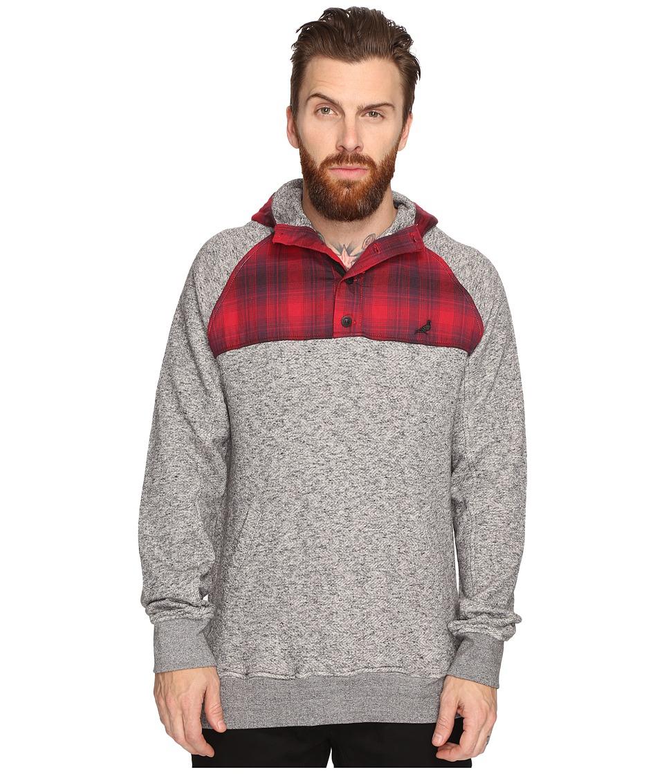 Staple - Hunter Mixed Hoodie (Heather Grey) Men's Sweatshirt
