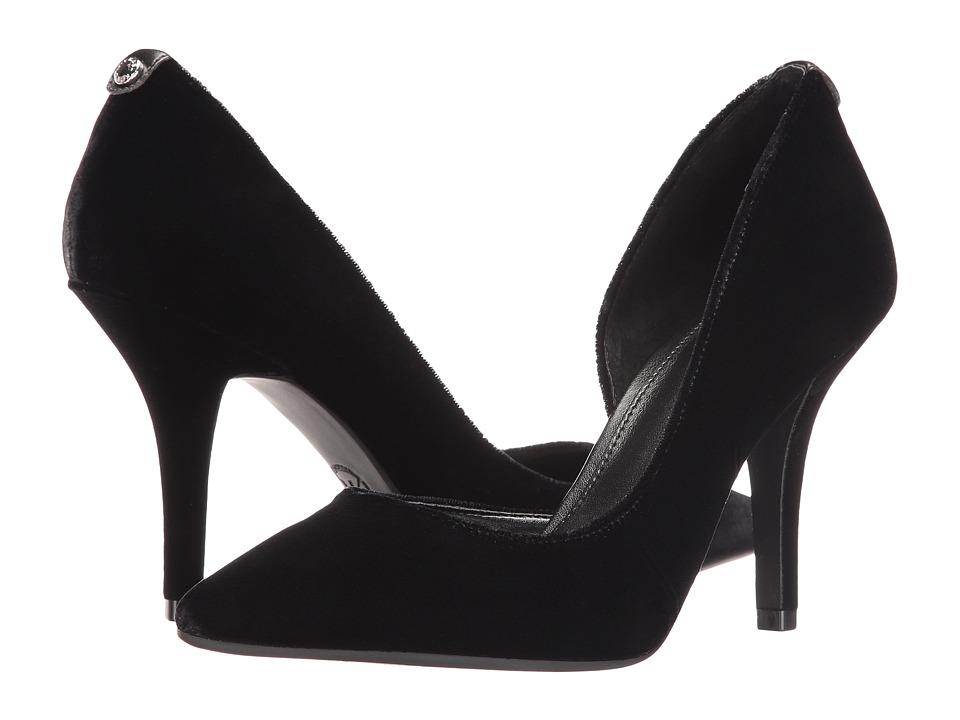 MICHAEL Michael Kors Nathalie Flex High Pump Black Velvet Shoes