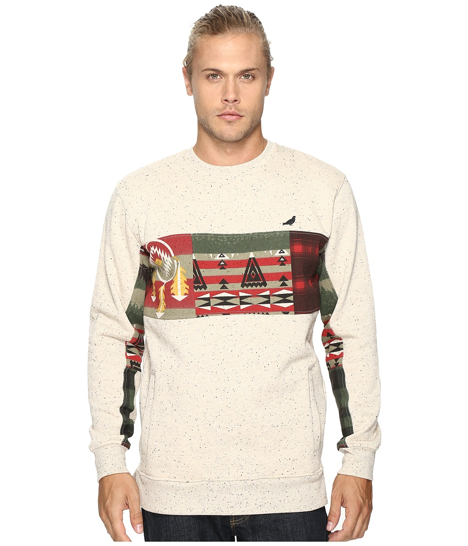 Staple - Patchwork Crew Neck (Oatmeal Heather) Men's T Shirt