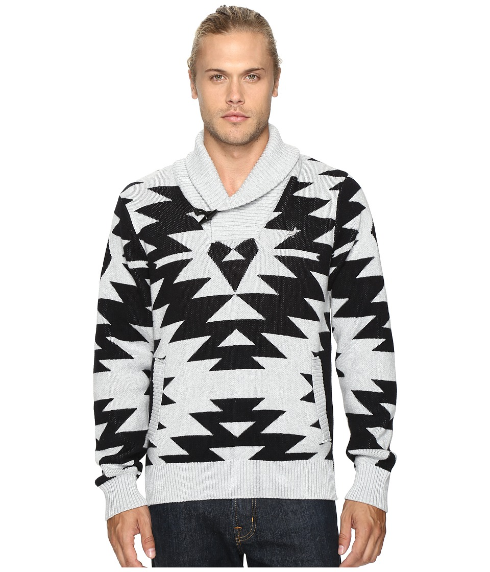 Staple - Native Shawl Sweater (Heather Grey) Men's Sweater