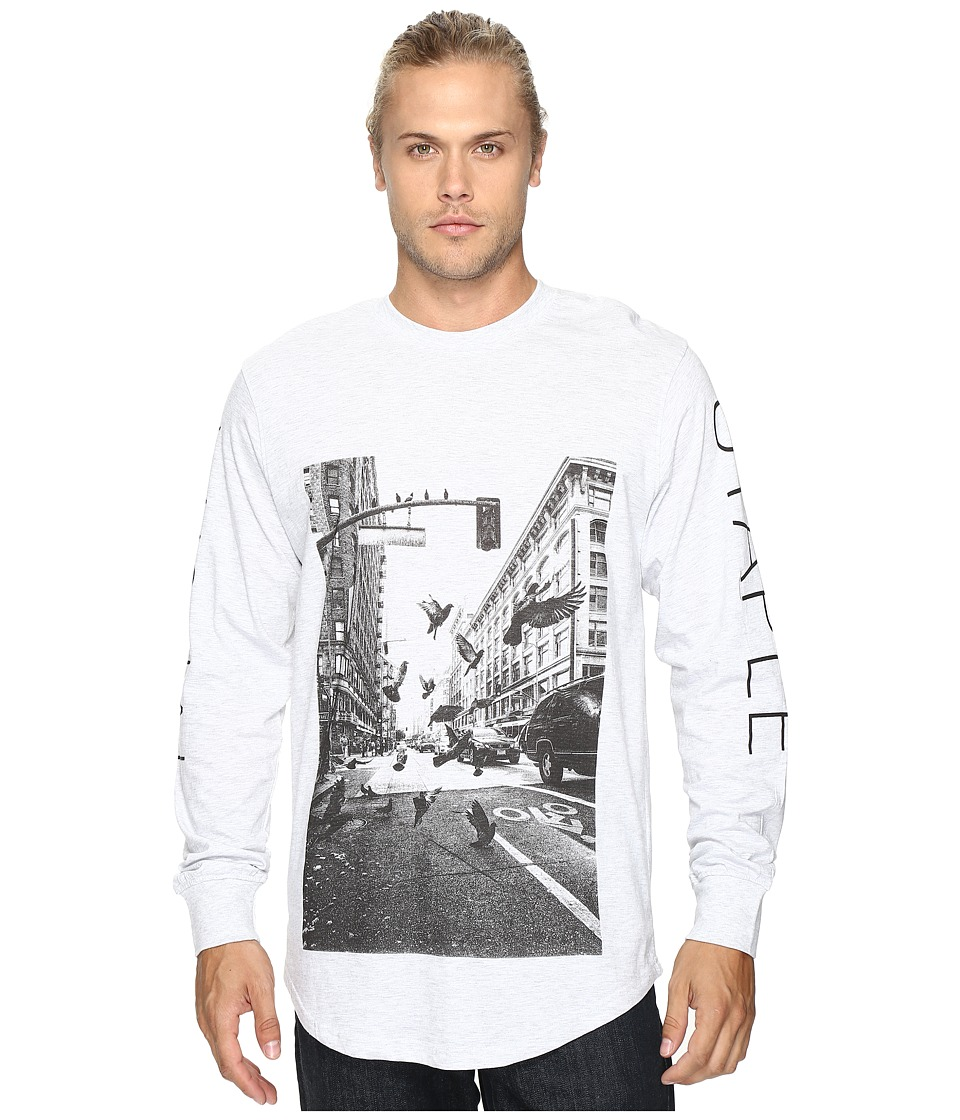 Staple - VS Traffic Long Sleeve Tee (Heather Grey) Men's Long Sleeve Pullover