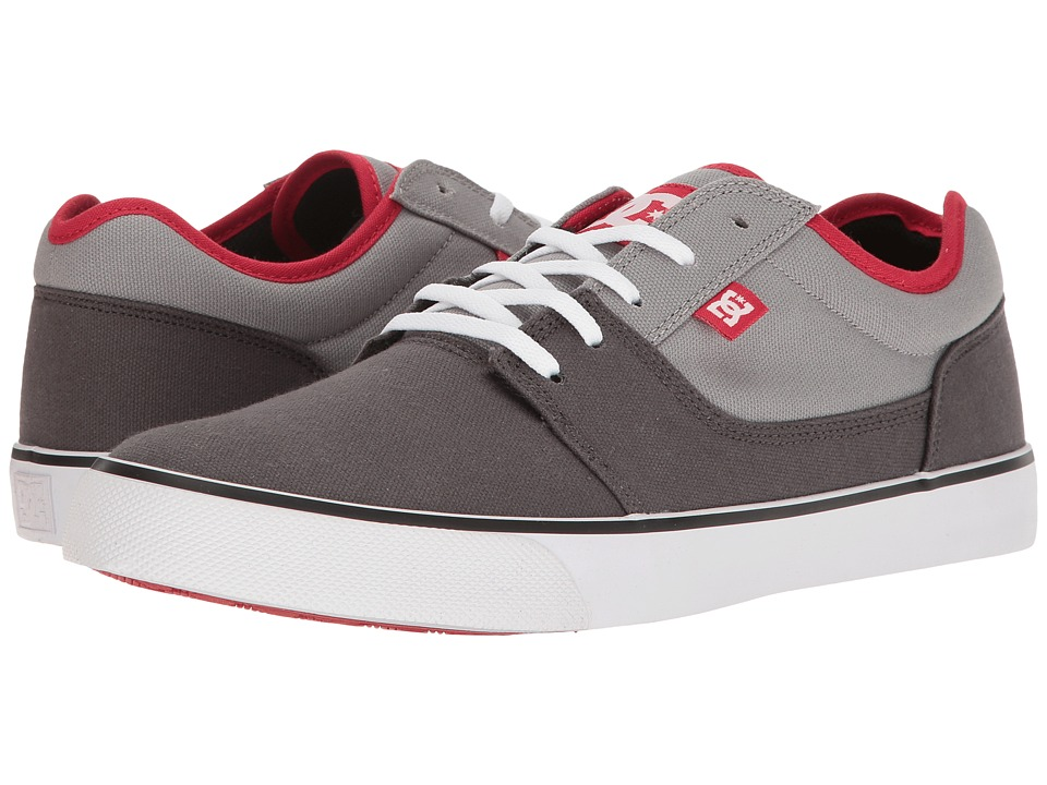 DC - Tonik TX (Grey/Grey/Red) Men's Skate Shoes
