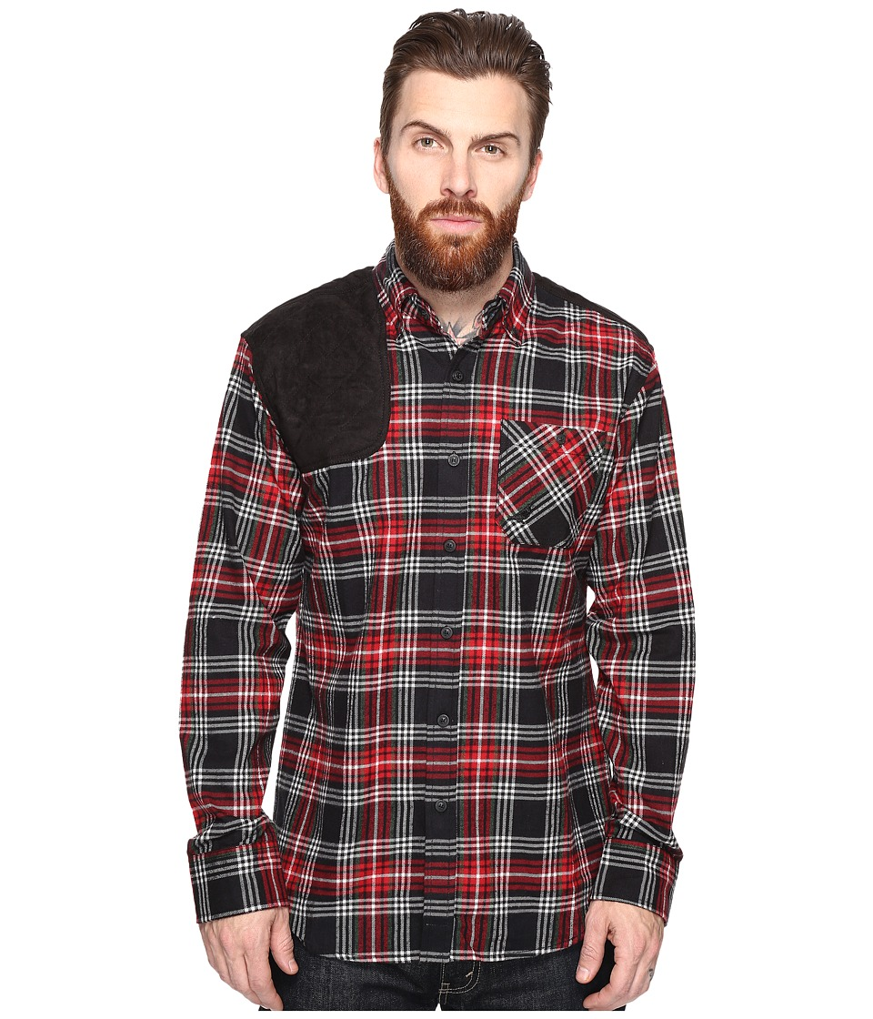 Staple - Shooter Flannel Shirt (Red) Men's Clothing