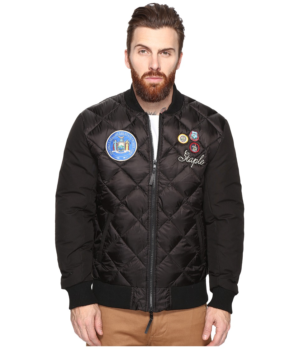 Staple - Patch Bomber Jacket (Black) Men's Jacket