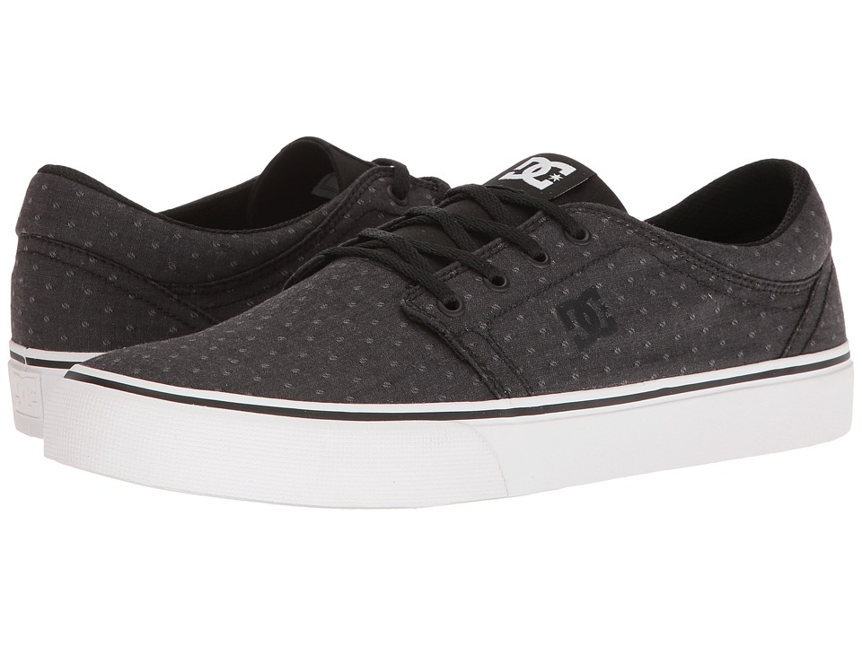 DC - Trase TX SE (Black/Polka Dot) Skate Shoes