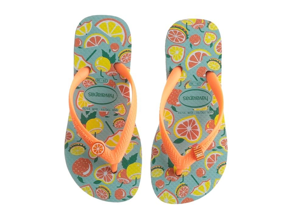 Havaianas Kids - Fun Flip Flops (Little Kid/Big Kid) (Blue/Orange) Girls Shoes