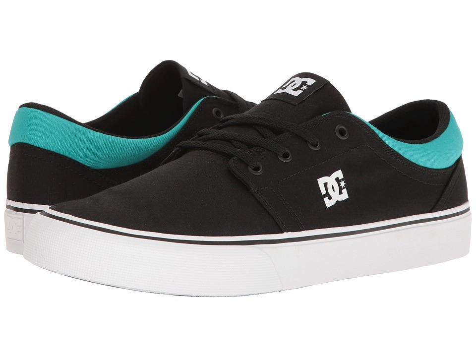DC - Trase TX (Black/Turquoise) Skate Shoes