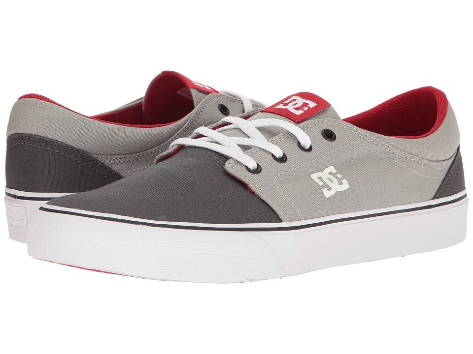 DC - Trase TX (Grey/Grey/Red) Skate Shoes