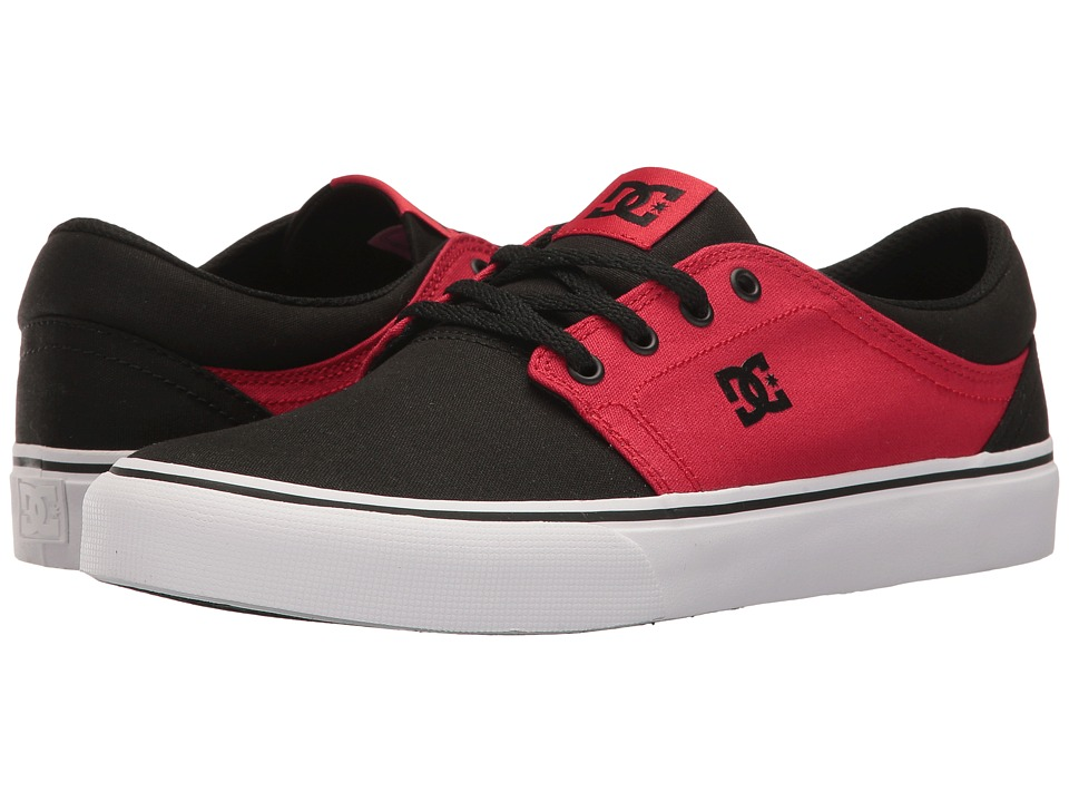 DC - Trase TX (Black/White/Red 2) Skate Shoes