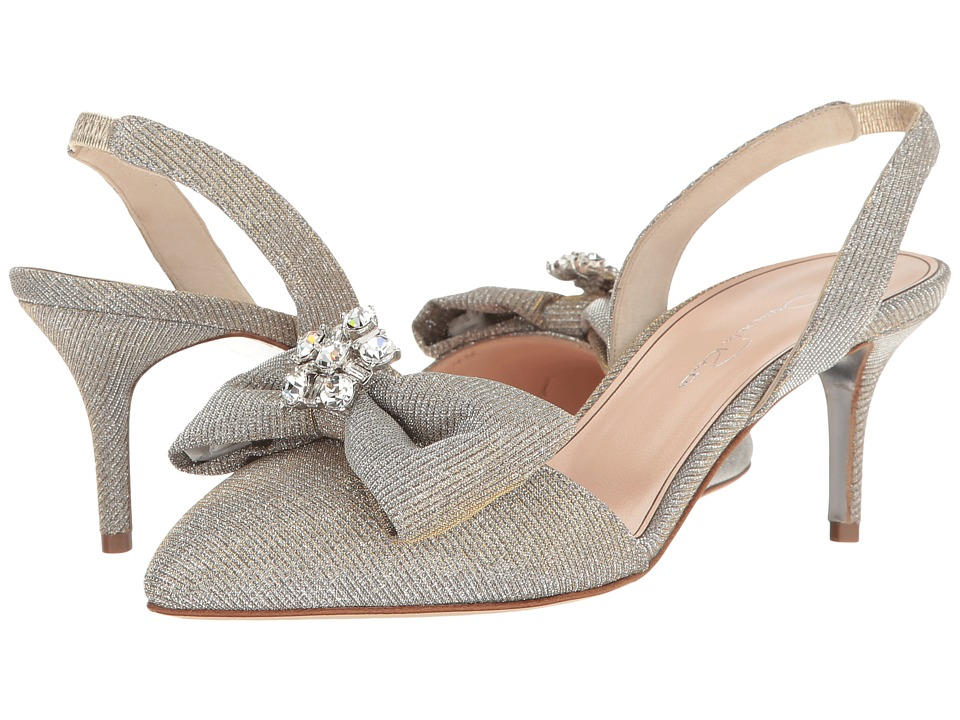 Oscar de la Renta - Pamie 55mm (Platinum Metallic Lame) Women's Shoes