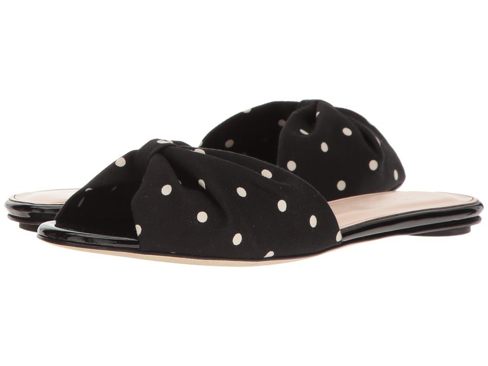 Oscar de la Renta - Mia 5mm (Black/White Cotton Sateen) Women's Shoes