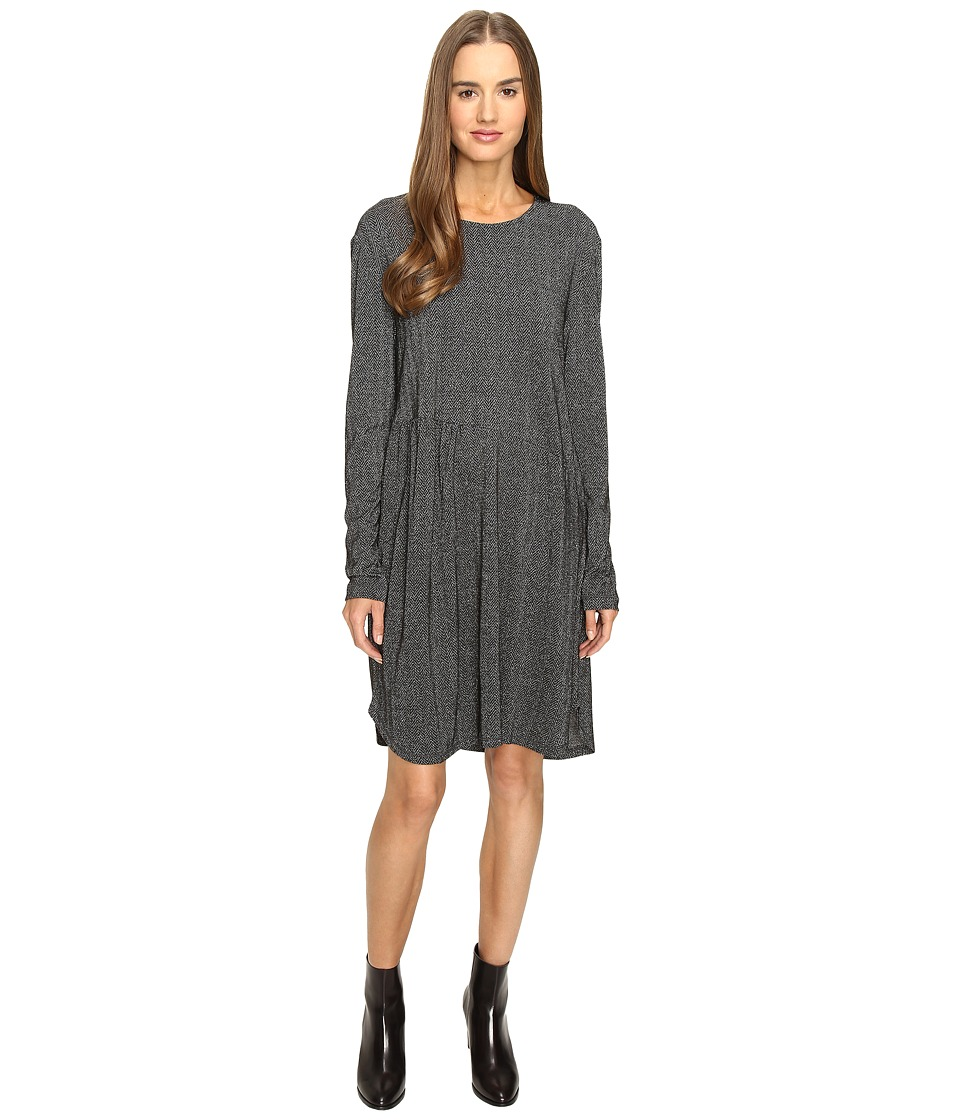 Manila Grace - Long Sleeve Dress (Grey Mix) Women's Dress