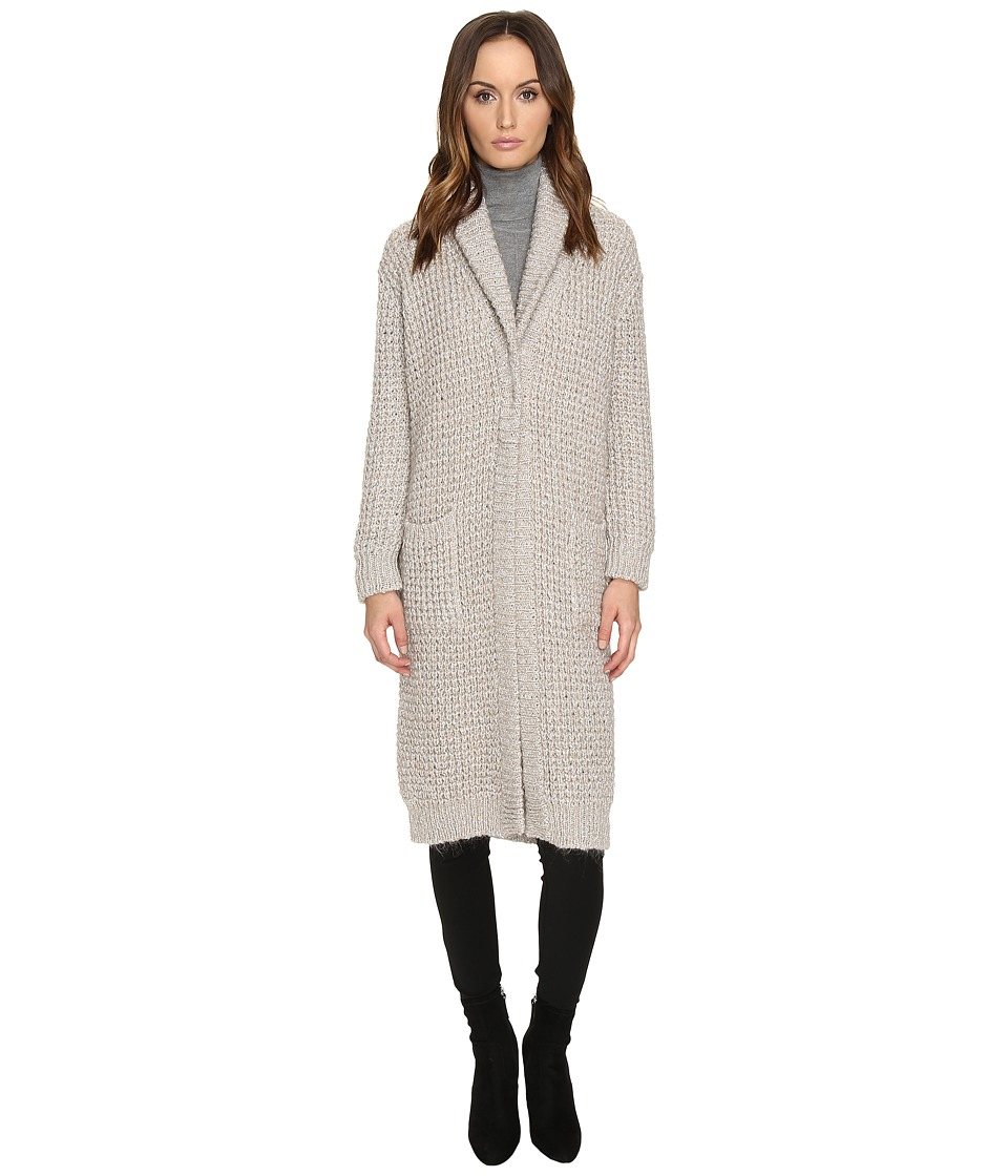 Manila Grace - Sweater Coat (Light Grey) Women's Coat