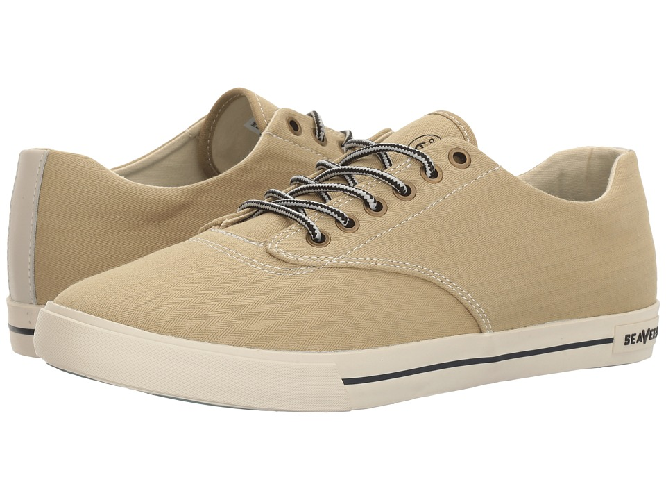 SeaVees - 08/63 Hermosa Plimsoll Regatta (Khaki/Natural) Men's Shoes