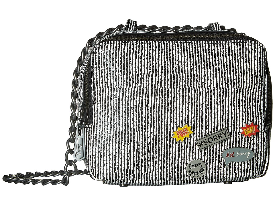 Circus by Sam Edelman - Cash Crossbody (Black/White Snake Pow) Cross Body Handbags