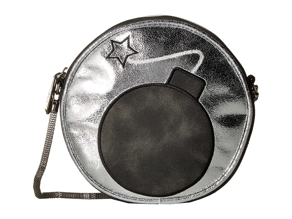 Circus by Sam Edelman - Bomb Shell Crossbody (Black/Silver Metallic) Cross Body Handbags