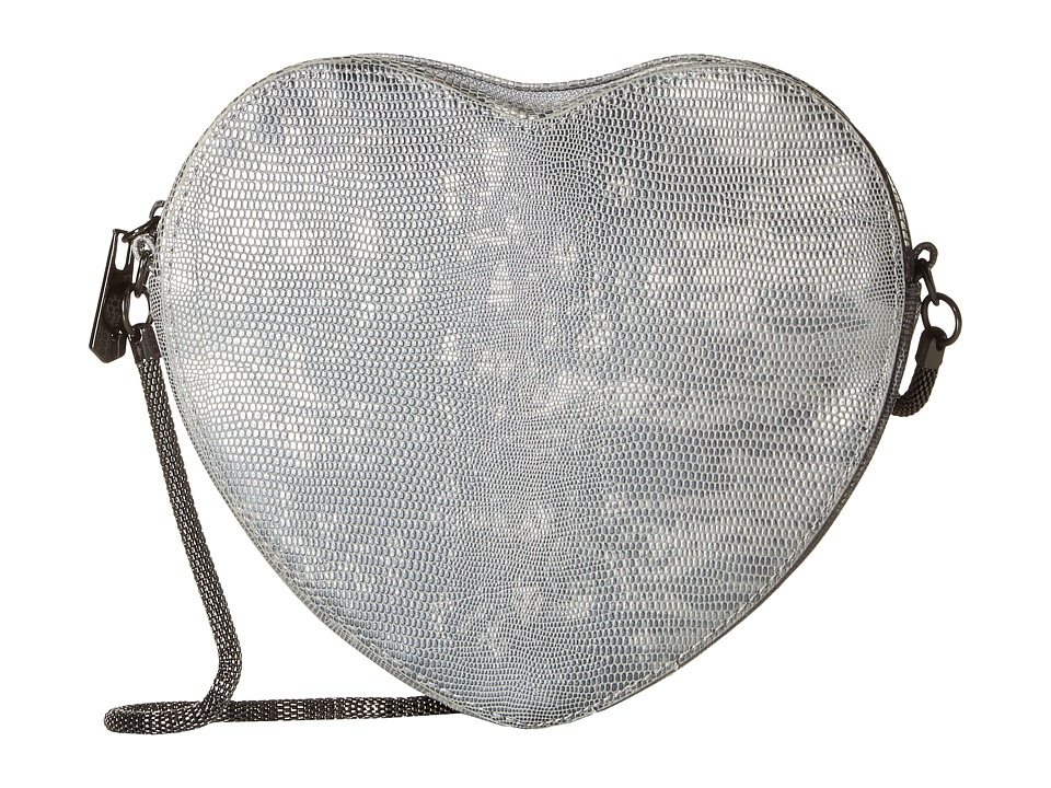 Circus by Sam Edelman - Sage Heart Crossbody (Silver) Cross Body Handbags