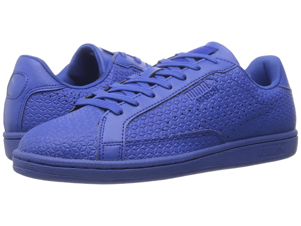 PUMA - Match Emboss (Dazzling Blue/Dazzling Blue) Men's Shoes