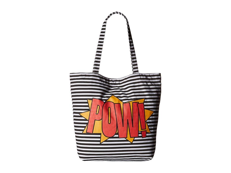 Circus by Sam Edelman - Graphic Tote (Black/White Striped Pow) Tote Handbags