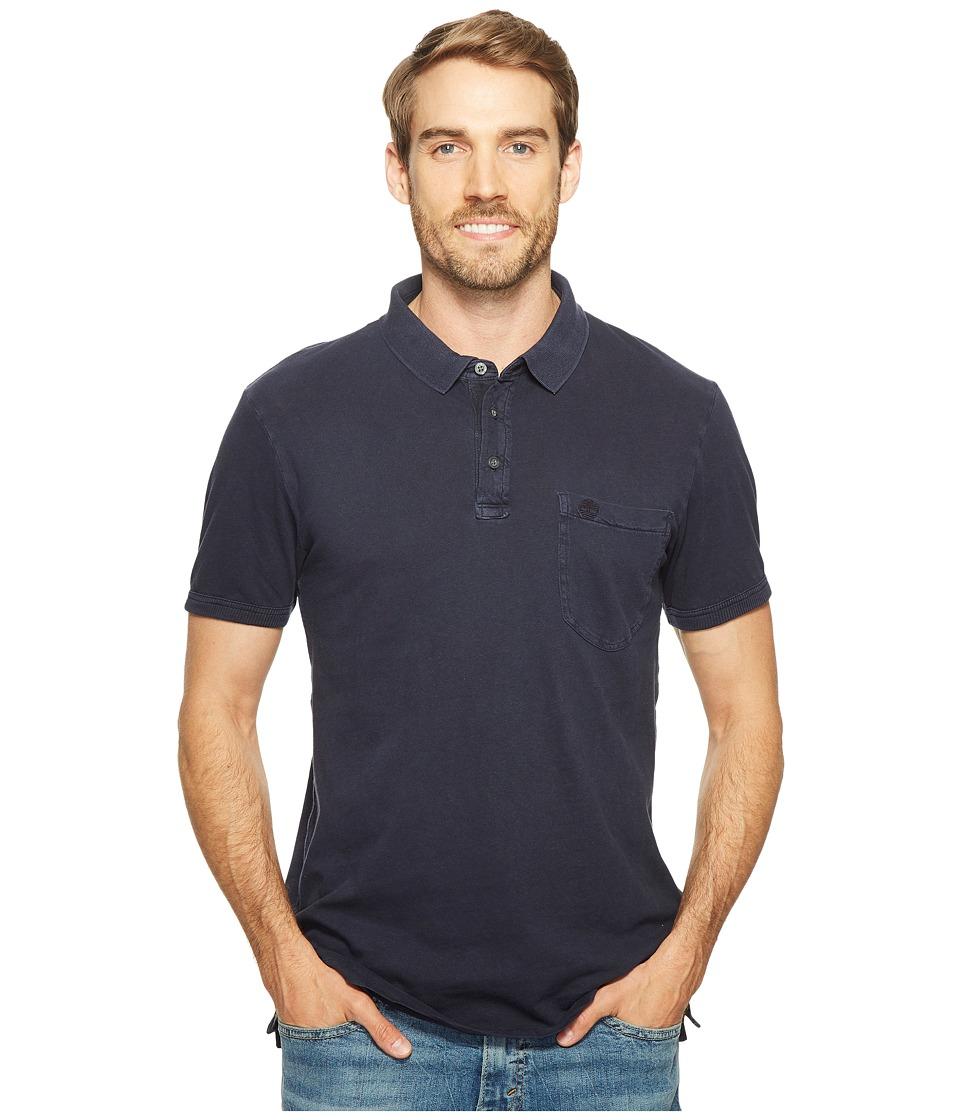 Timberland - Short Sleeve Ashuelot River Cotton/Linen Polo (Dark Sapphire) Men's Clothing
