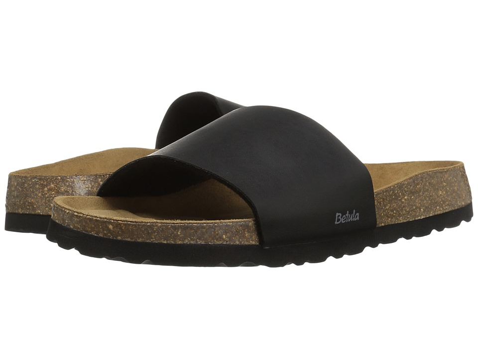 Image of Betula Licensed by Birkenstock - Reggae Birko-Flor (Basic Black) Women's Shoes