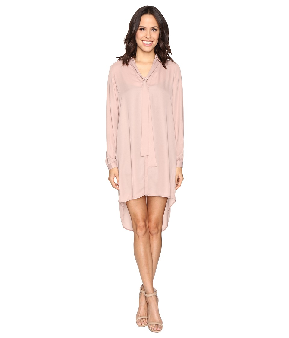 Brigitte Bailey - Kali Shirtdress with Back Button Detail (Taupe) Women's Dress
