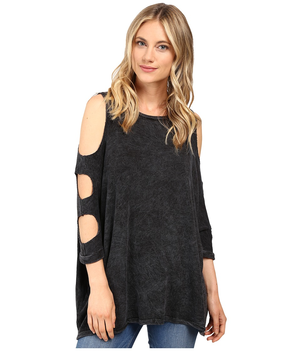 Culture Phit - Lynda Cut Out Top (Acid Black) Women's Clothing