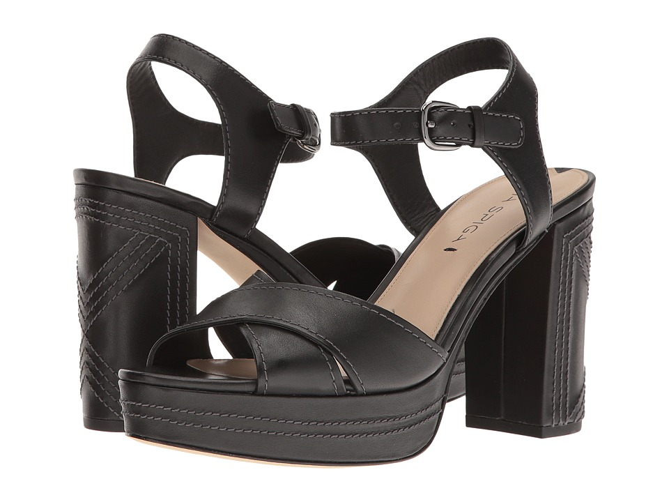 Via Spiga - Brianna (Black Leather) Women's Shoes