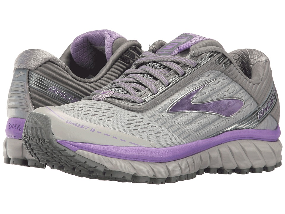 Brooks - Ghost 9 (Grey/Primer Grey/Lilac) Women's Running Shoes