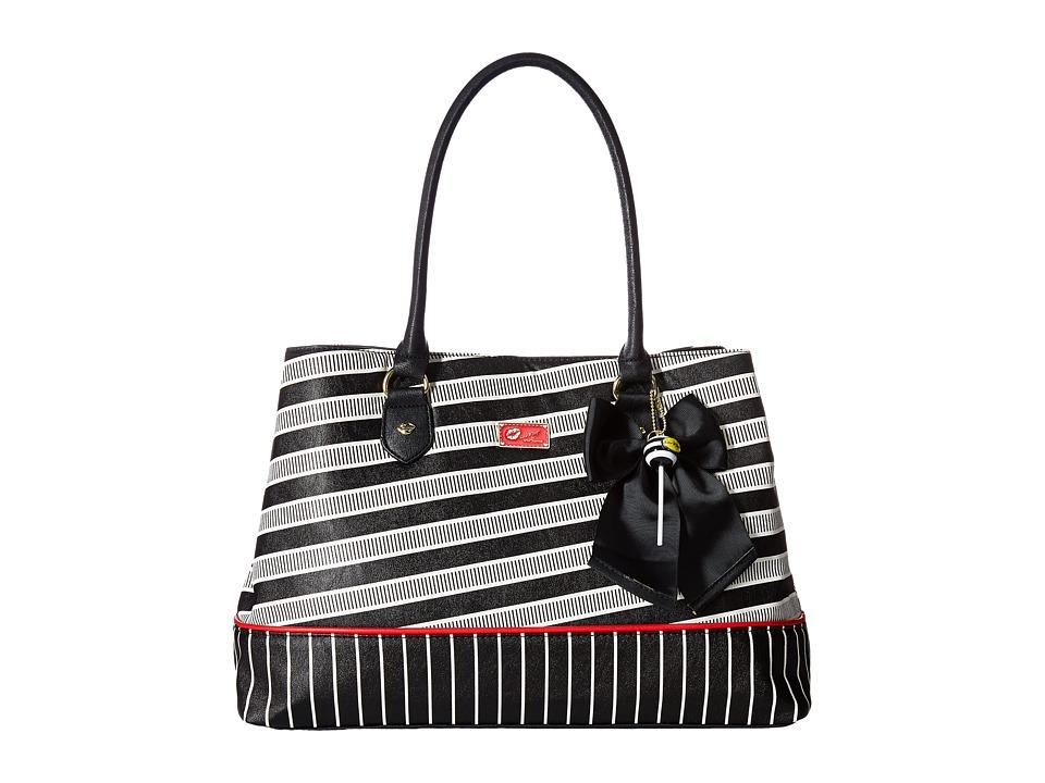 Luv Betsey - Carlie Satchel (Red/Black) Satchel Handbags