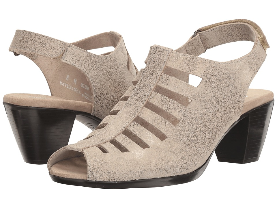 Munro - Abby (Silver Metallic Nubuck) Women's Shoes