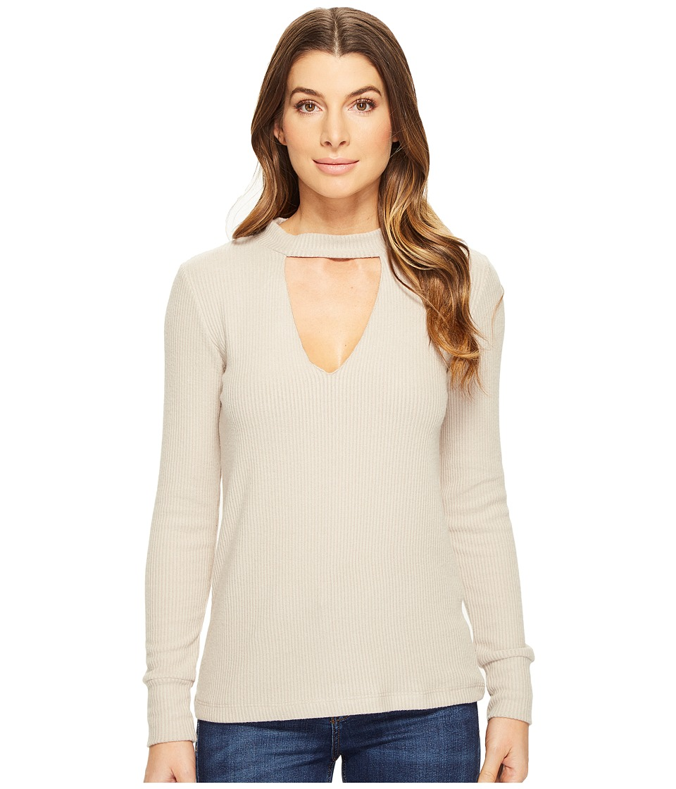 LNA - Bardot Long Sleeve (Oat) Women's Long Sleeve Pullover