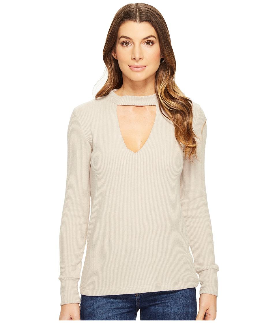 LNA - Bardot Long Sleeve (Oat) Women's Long Sleeve Pullover