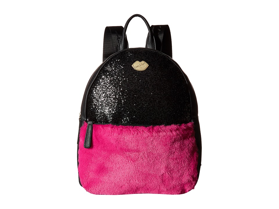 Luv Betsey - Glam Glitter Backpack (Black) Backpack Bags