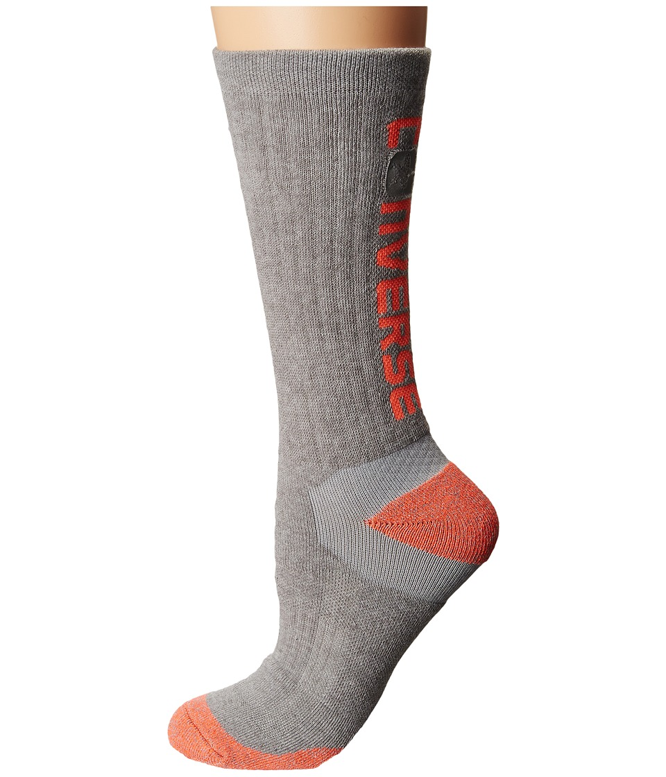 Converse - Ultra Performance Crew Socks 1-Pack (Grey) Women's Crew Cut Socks Shoes